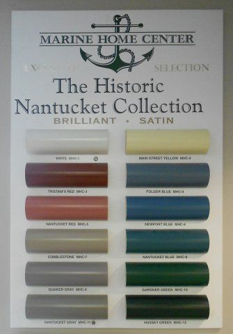 Approved Nantucket Exterior Paint Colors The Color Chart According