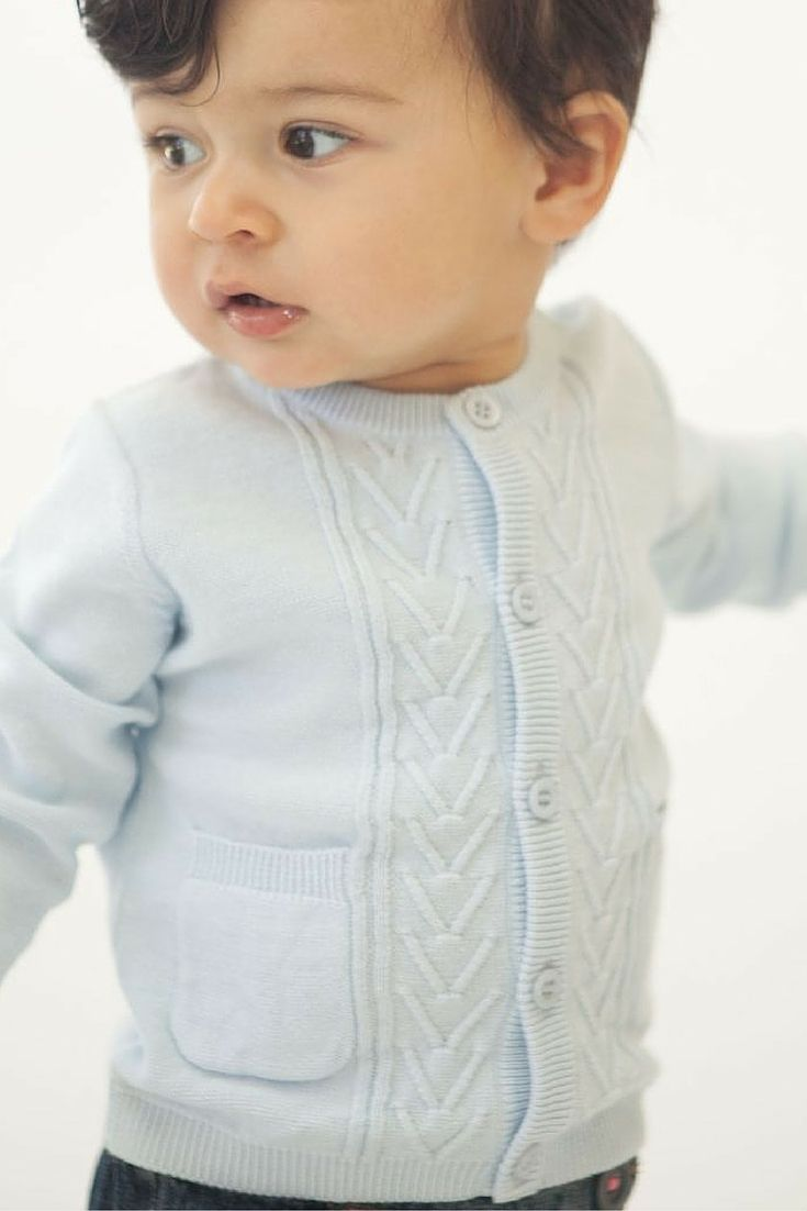 [BABY BOY HARBORSIDE CARDIGAN] Essential must have item for infant boys. Simple and modern design with cute pockets. eversimplicity.com