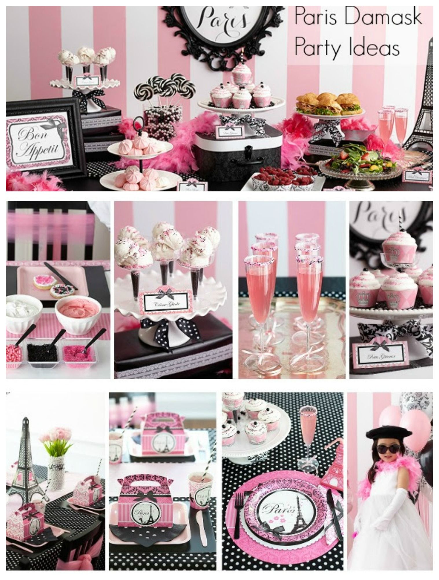 Pink And Black Paris Themed Birthday Party Ideas Parties365 Paris Birthday Parties Paris Themed Birthday Party Paris Theme Party