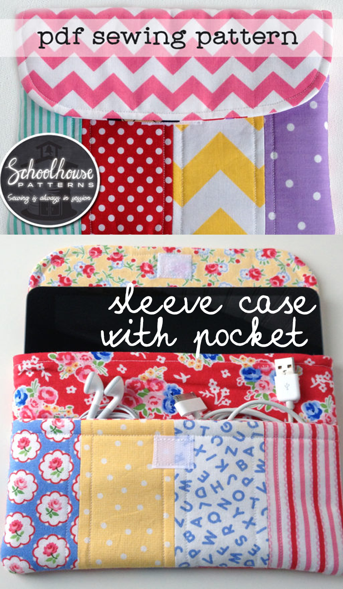 This PDF sewing pattern includes instructions for an eClutch