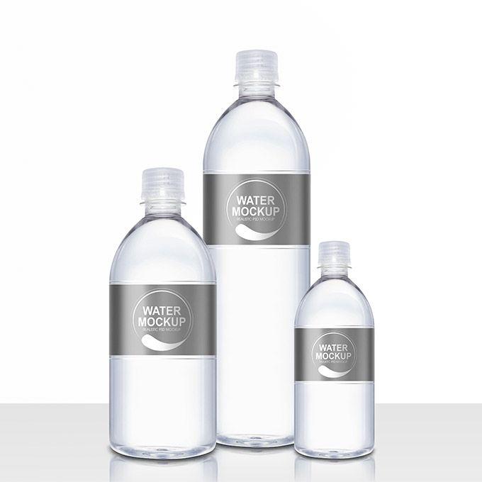 Mineral Water Plastic Bottle Psd Mockup Packreate Bottle Mockup Bottle Plastic Bottles