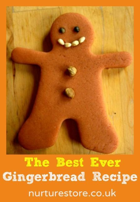 gingerbread recipe A good recipe to use with children – the dough can cope with lots of handling by the children and the finished biscuits will still turn out OK.: