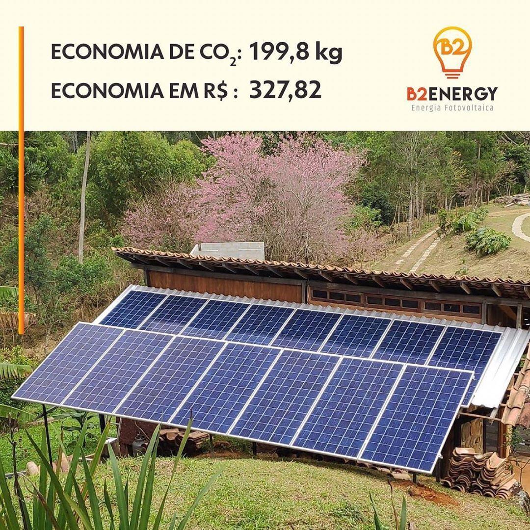 Em Apenas 1 Mes Foram Economizados 199 8 Kg De Co2 E R 327 82 No Sistema Fotovoltaico Do Reservatrespicoscha Roof Solar Panel Outdoor Solar Panels