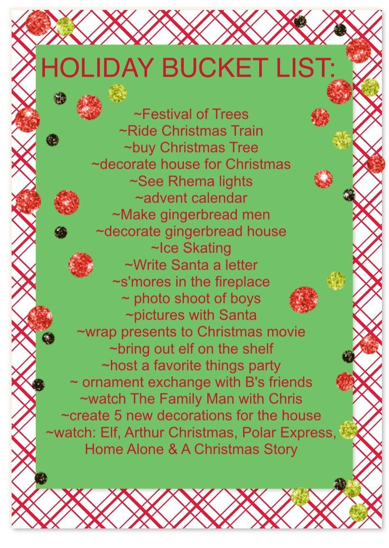 Aw Christmas Bucket Lists Are Waaaaaaaay More Fun With