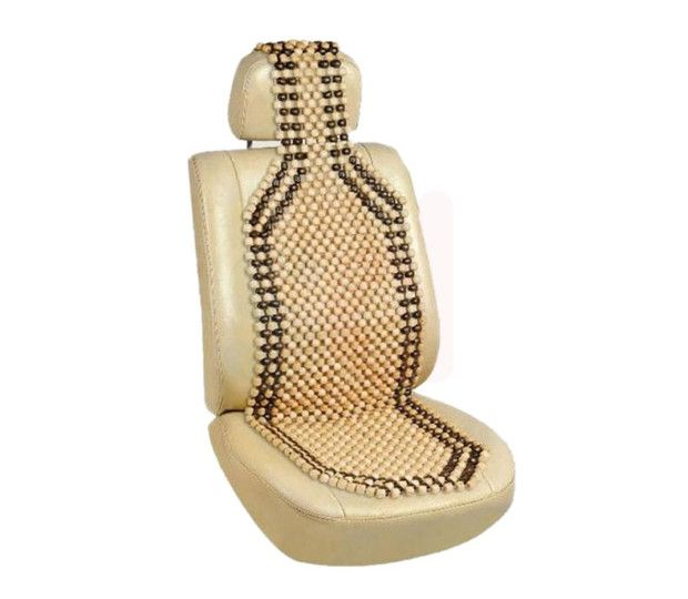 Autofurnish Car Wooden Bead Seat Acupressure Design Universal Size – AF6549 At Rs 499