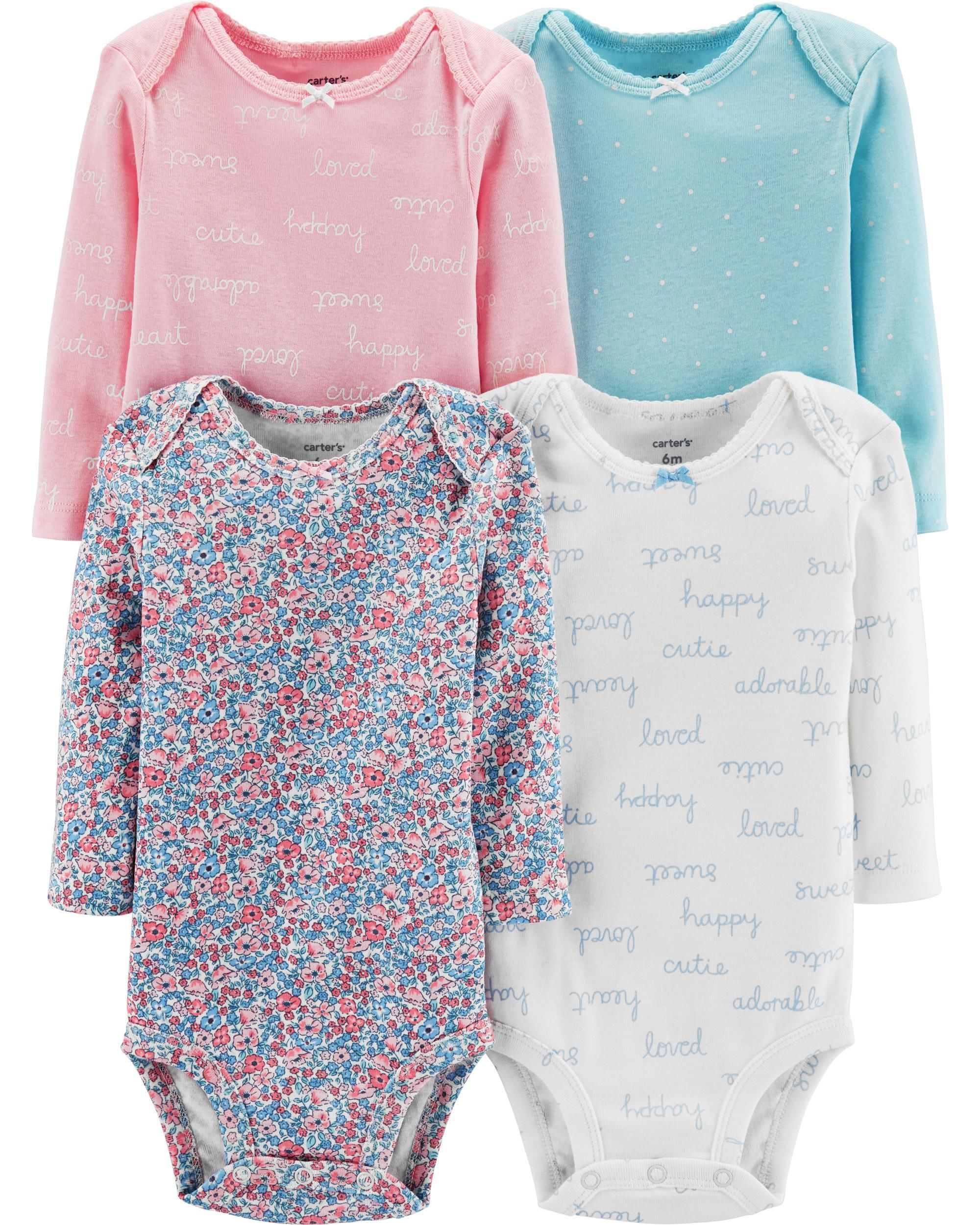 7de21280b 4-Pack Floral Original Bodysuits | Matthyew&Rileigh | Carters baby ...