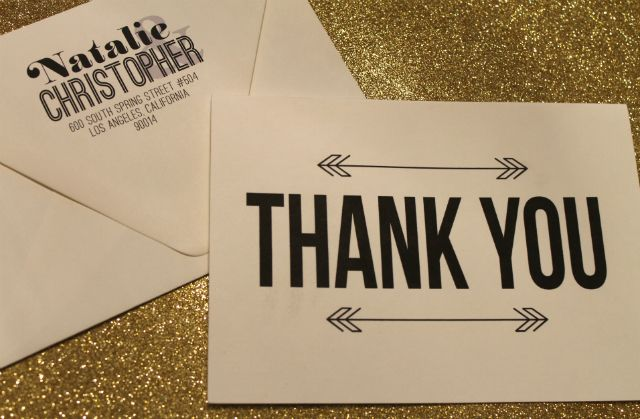 mint love social club: {etsy shop: custom thank you cards}