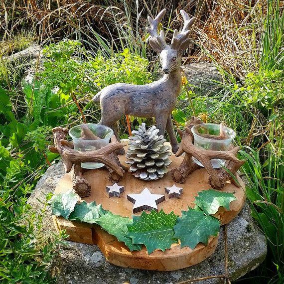 RESERVED Horned God Altar, Cernunnos Altar, Herne The Hunter, Winter  Solstice Decor, Yule Altar Decor, Winter Woodland Pagan Home