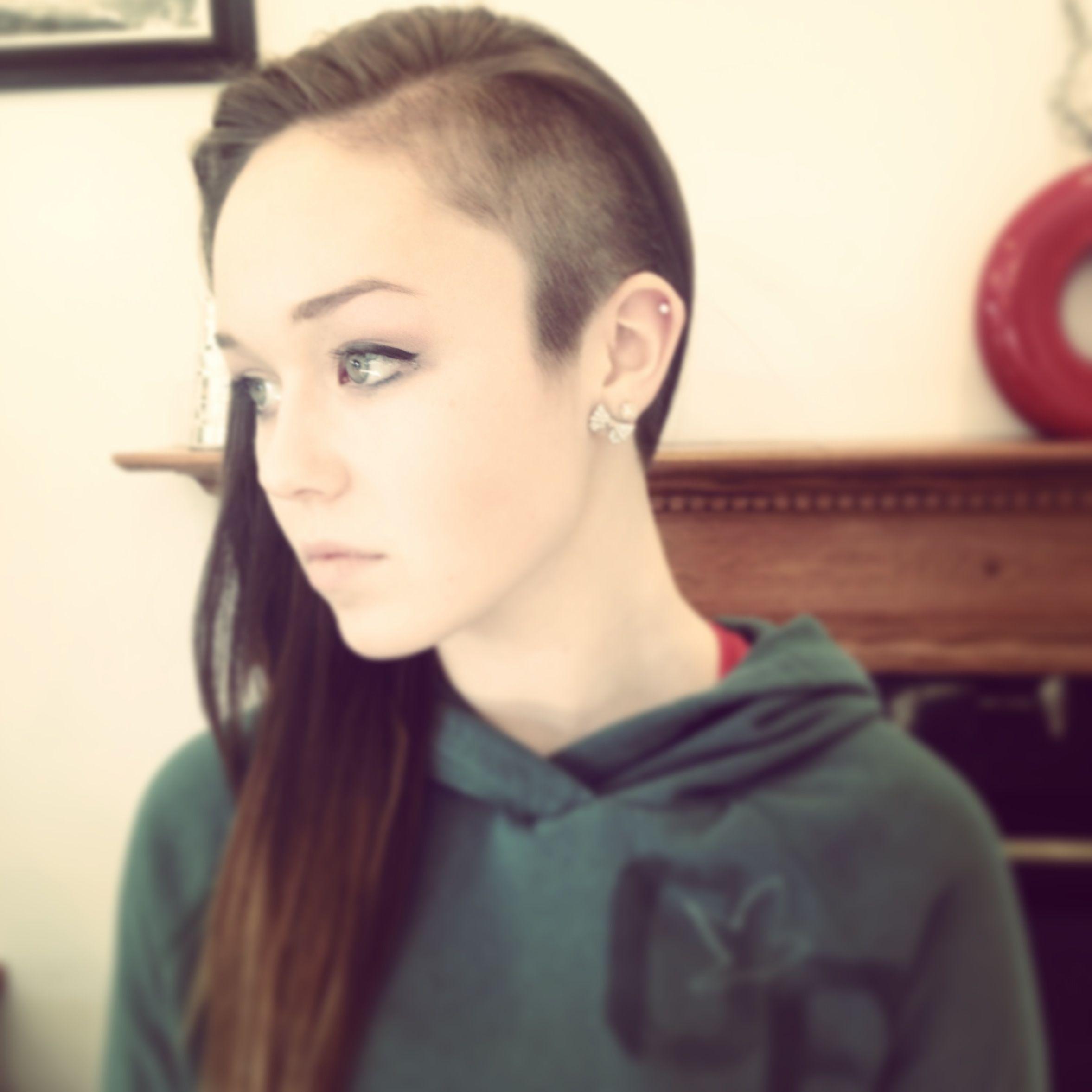 half shaved head, cute! | hair | half shaved head, half