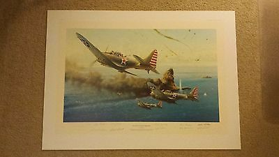 The Battle of the Coral Sea Aviation Art Print by Robert Taylor NO RESERVE https://t.co/33PySrW4Vp https://t.co/QhQfCpTyWs