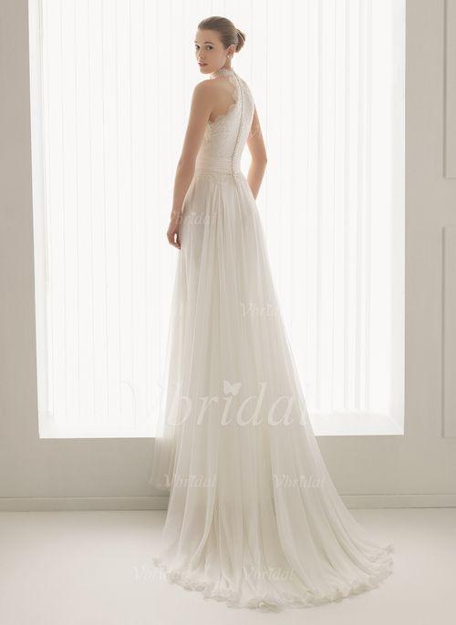 Brautkleider - $148.73 - A-Linie/Princess-Linie V-Ausschnitt Sweep ...
