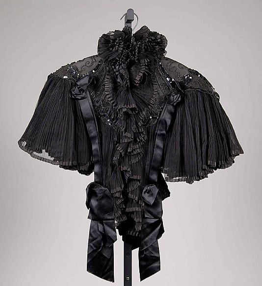 Evening Cape Made Of Silk And Sequins - Made By Bon Marche (French, Founded 1852) - French   c.1895  -  The Metropolitan Museum Of Art