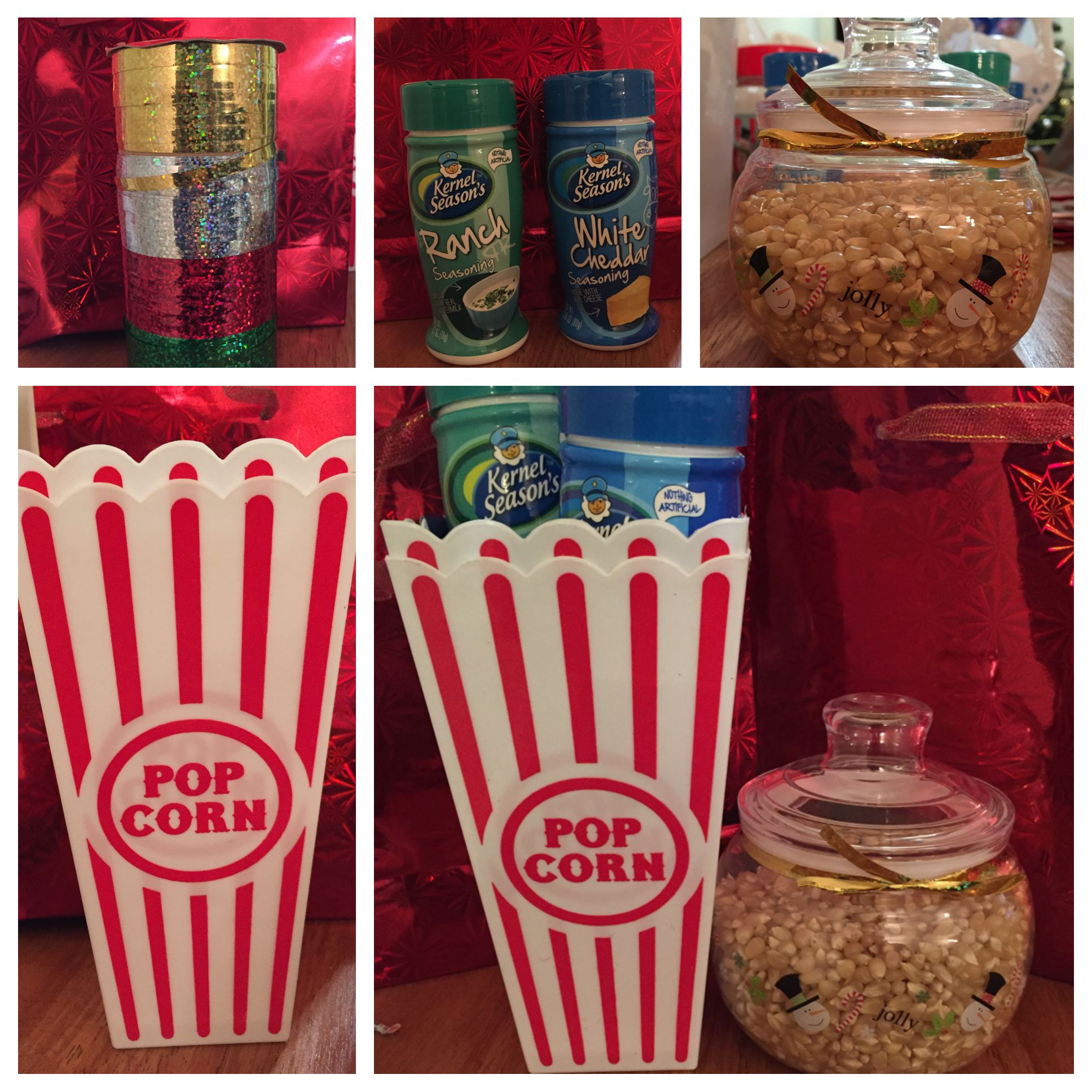 Christmas gift idea when on a budget popcorn kit