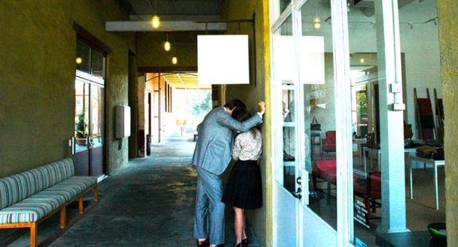 Sid and Ann share a tender moment outside Ann's current shop