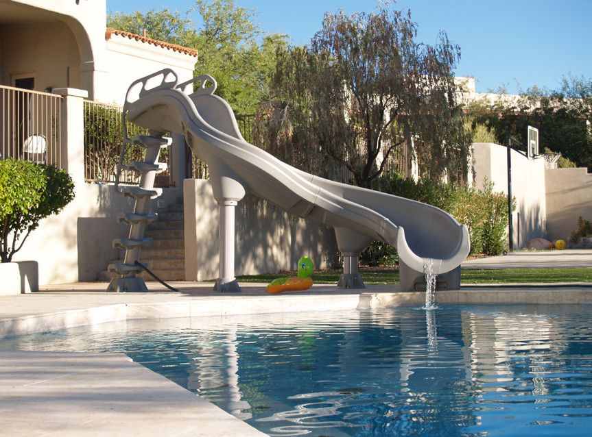 Portable Swimming Pool Slides Swimming pool slides, Pool