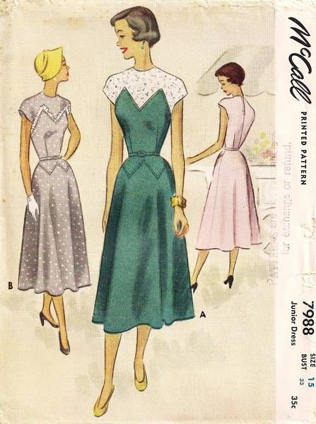 1950's New Era McCall Dress Pattern Bust 33