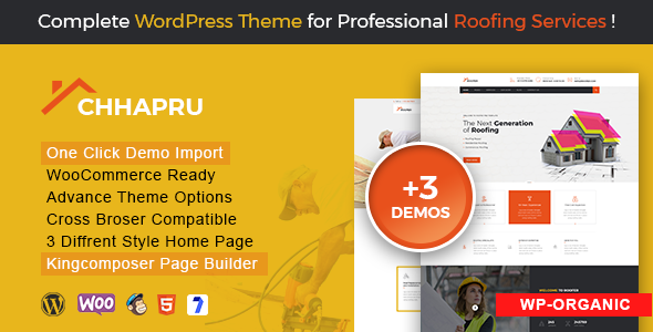 Chhapru Roofing Service And Construction Wordpress Theme Wordpress Theme Popular Wordpress Themes Roofing Services