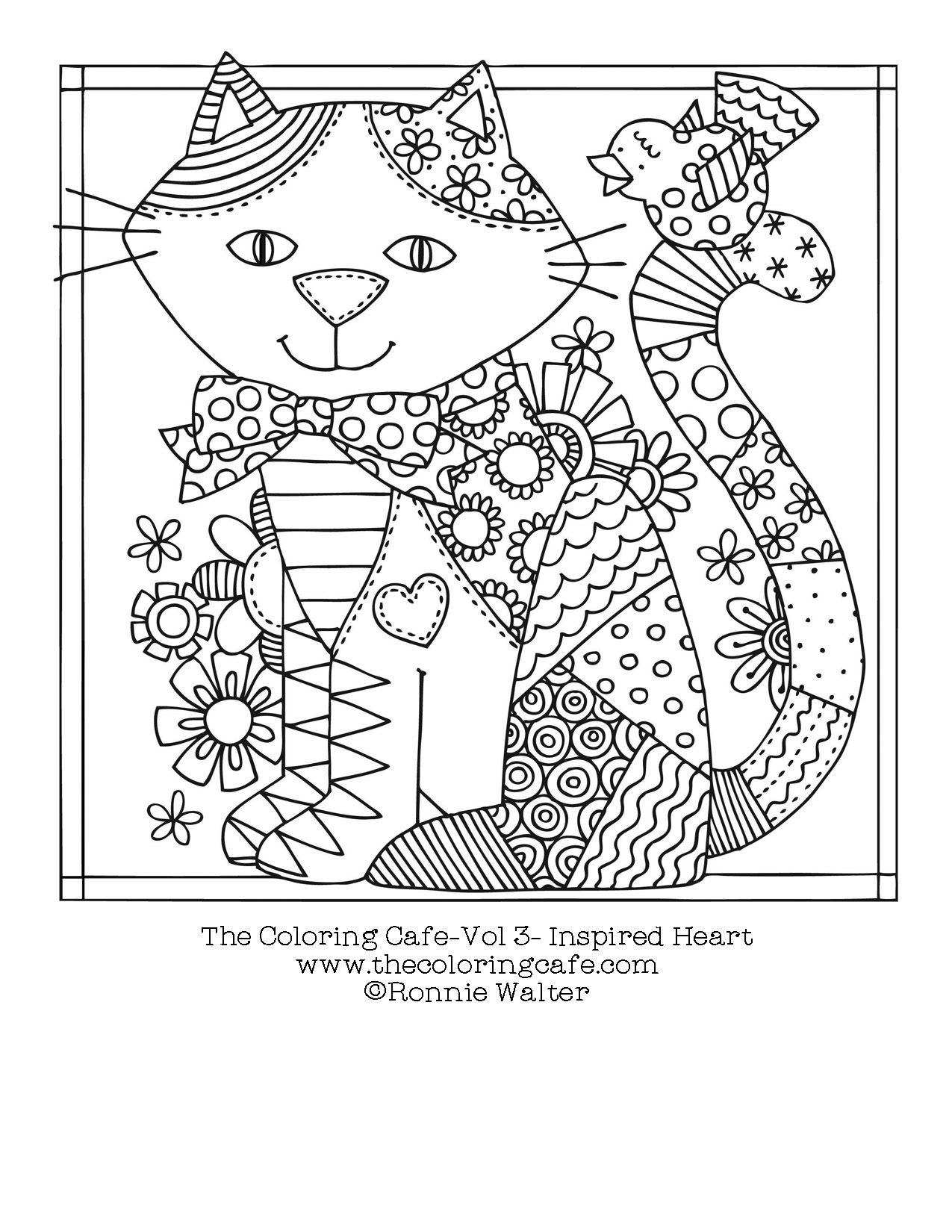 A Cat to Color | Colorear, Mandalas y Gato