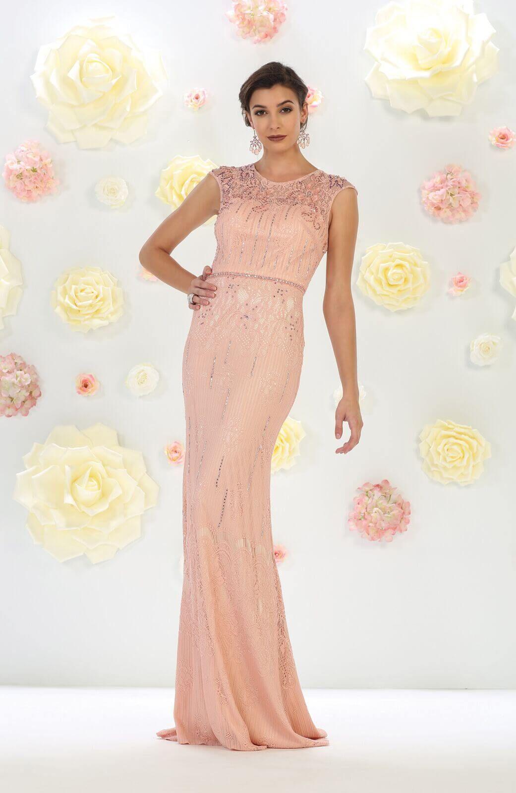 911f8816e Long Formal Plus Size Mother of the Bride Lace Dress   DressOutlet - The  Dress Outlet