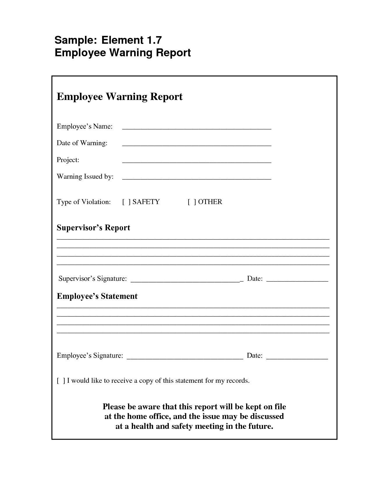 Employee Warning Letter Template First Warning Letter Template Min