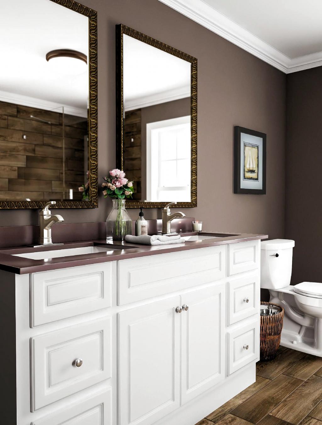 Pin By Kaylyn Clark On Basement Bathroom In 2020 Brown Bathroom Paint Bathroom Paint Colors Bathroom Color Schemes