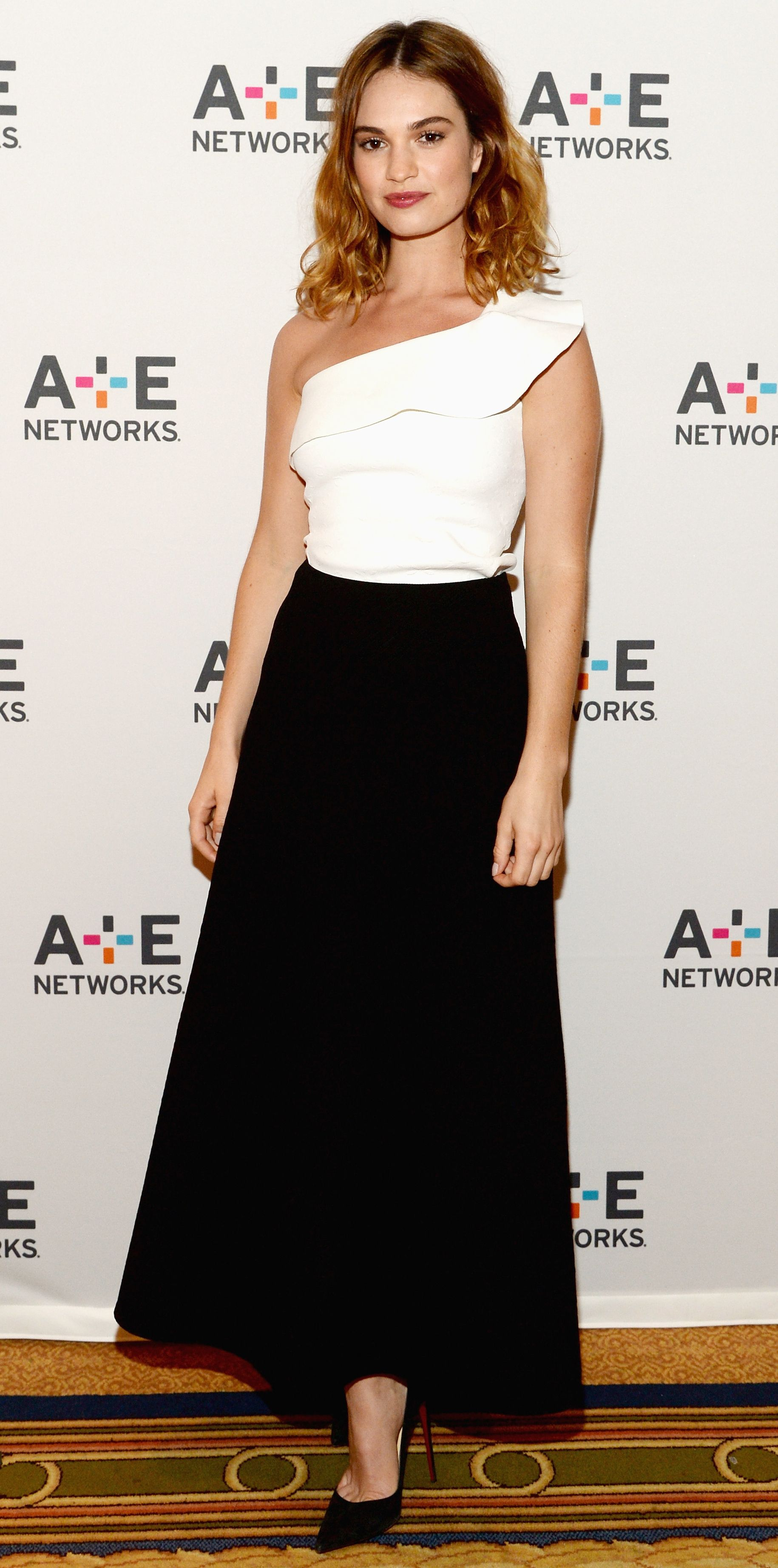 Look of the Day - Lily James  - from InStyle.com
