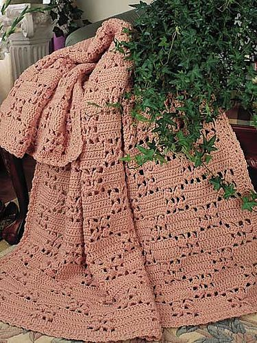 Checkerboard lace afghan (pattern) by Carol Alexander