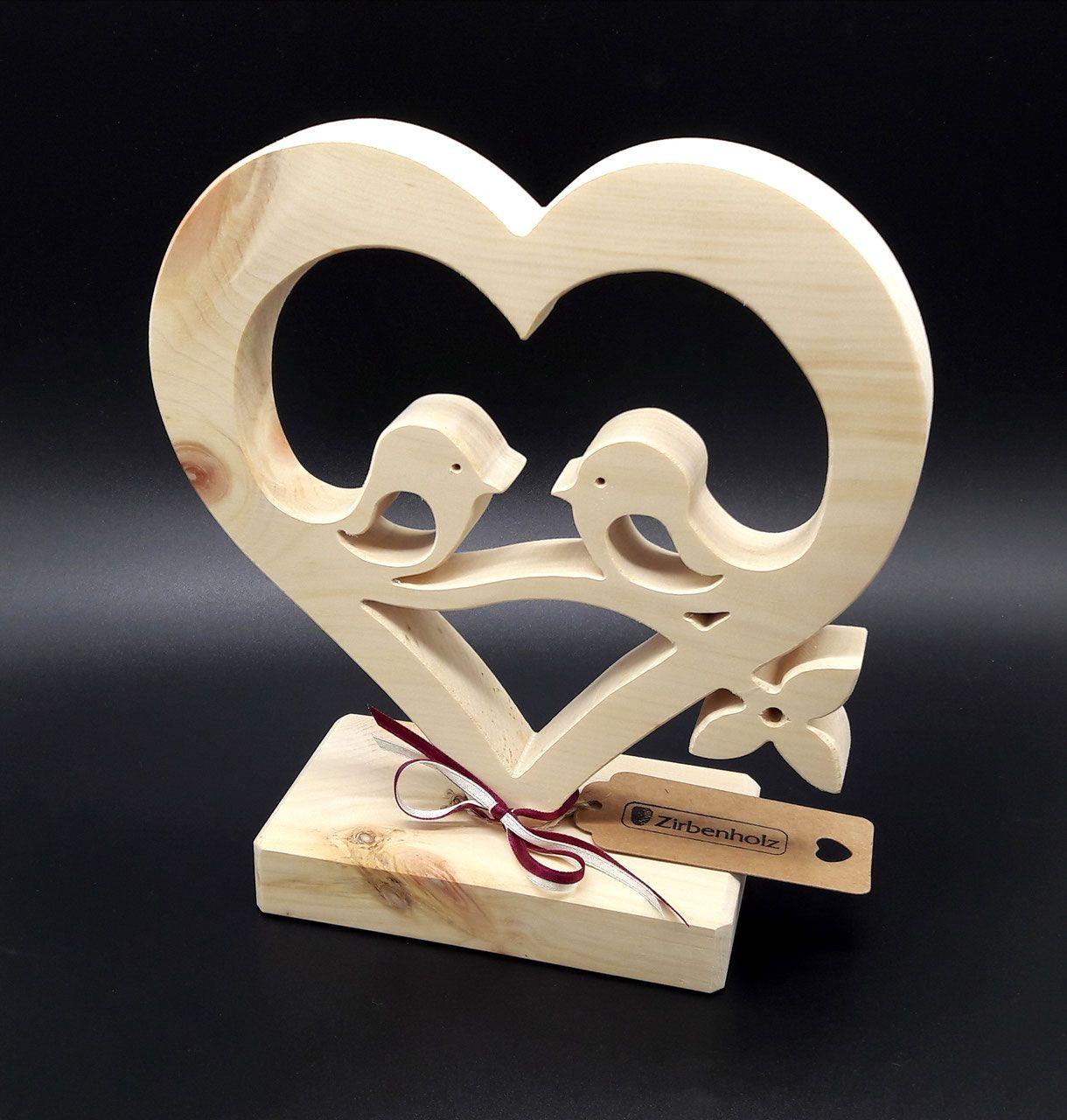 zirben herz verliebte v gel wood On hochzeitsgeschenke aus holz