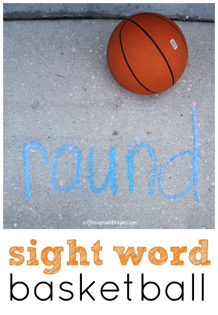 sight word basketball activity pe lessons pinterest