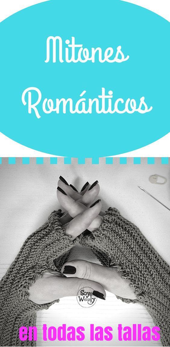 Mitones Románticos tejidos en dos agujas (rectas, no circulares ...