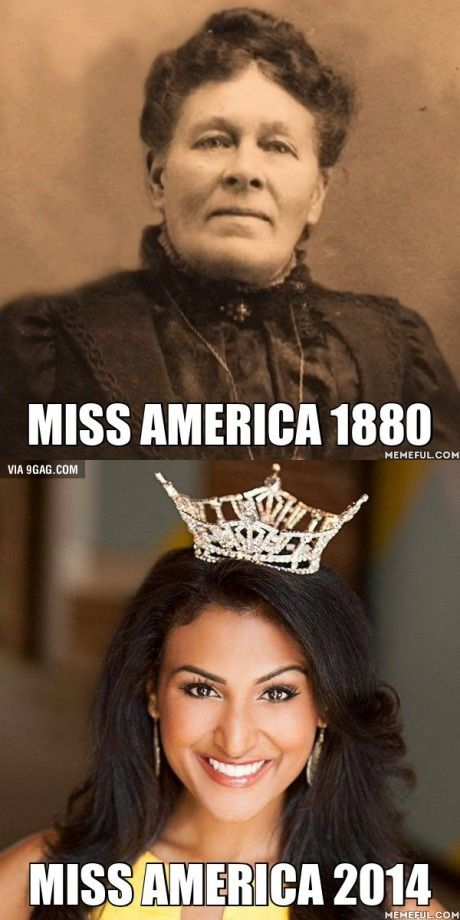 Miss America 1880 vs Miss America 2014