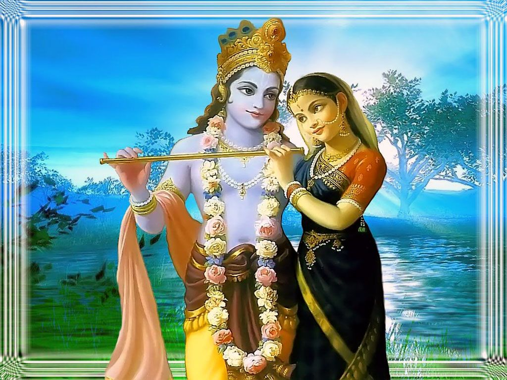 krishna+and+radha | Radha Krishna Animated Wallpaper