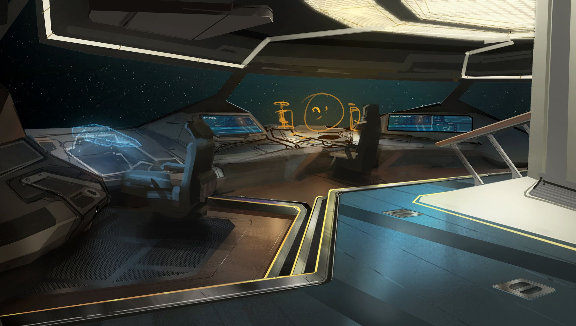Artstation Anaconda Bridge Xavier Henry Location Spacestation