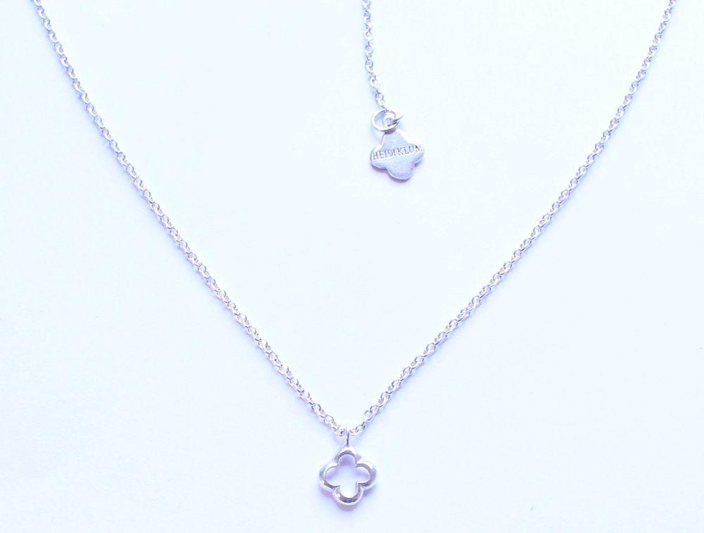 93e40460f Heidi Klum Signed Sterling Silver 925 4 Four Leaf Clover Pendant Necklace  #HeidiKlum