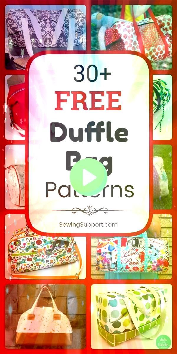 Free Duffle Bag Patterns  Taschen etc 30 Free Duffle Bag Patterns  Taschen etc  30 Free Diaper Bag patterns tutorials and diy sewing projects Lots of instru  Diaper Bags...