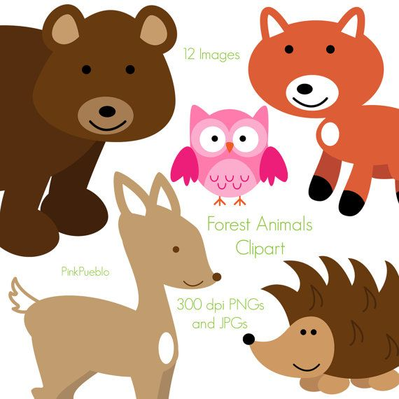 Forest Animal Clip Art Forest Animals Clipart Woodland Etsy Animal Clipart Forest Animals Clip Art