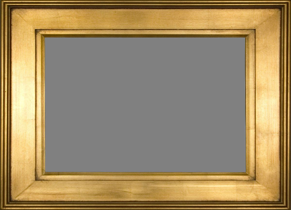 Plein Air Gold Frame With A Foil Leaf Effect & Matching