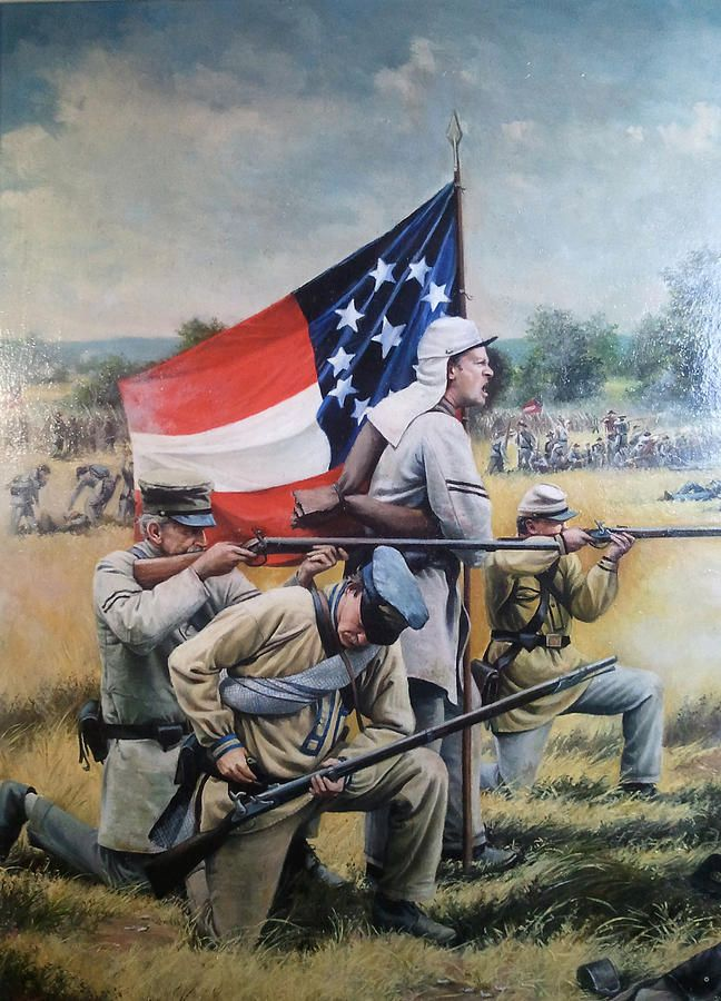 The Stars And Bars Painting By Jeff Trexler Arte Historico Arte Militar Pinturas