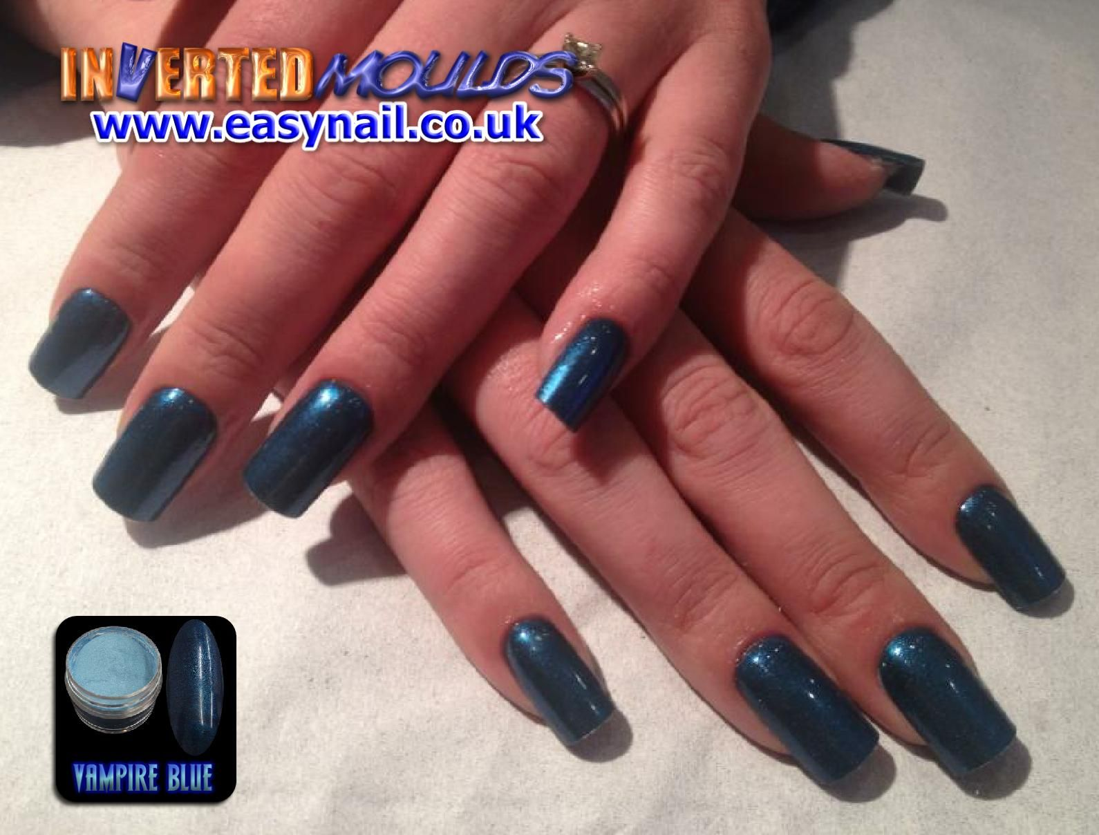 Our VAMPIRE BLUE nail art powder was an experiment colour, but as ...