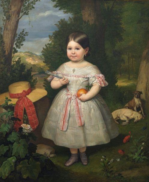 dfe5d05b7 Retrato de niña en un paisaje - Colección - Museo Nacional del Prado ...