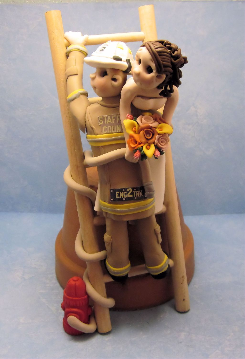 fireman and bride wedding cake toppers fighter cakes firefighter cake topper 14268