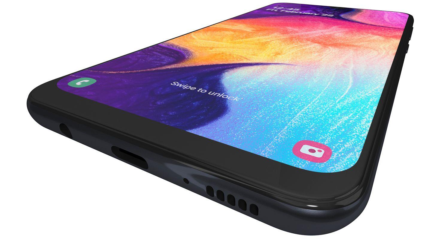 3d Model Realistic Samsung Galaxy A50 Samsung Galaxy Galaxy Samsung