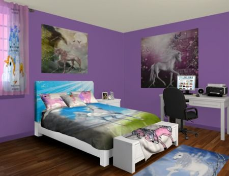 Custom Unicorn Bedding | Unicorn Bed Sheets, Comforters & Duvet Covers at http://www.visionbedding.com/Bedding/Unicorn.php  #Home Decor,#Unicorn Bedding