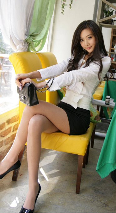 Beautiful asian secretary