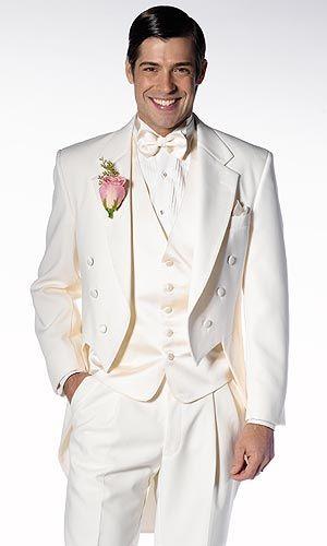87 Ivory Notch Tails Summer Wedding Suitsmen