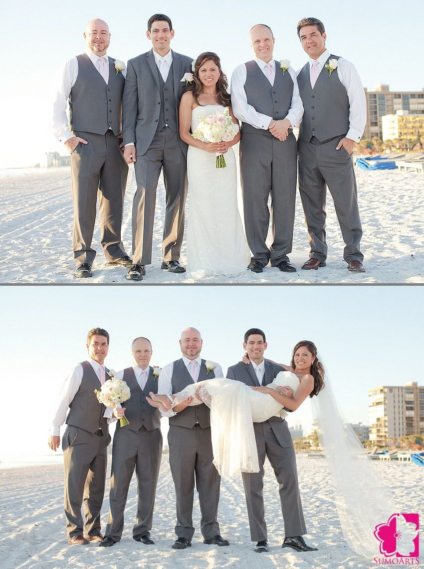 Groomsmen In Gray Suits From Mens Wearhouse