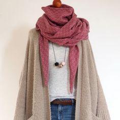 TUTORIAL einen XL-Schal aus 1 m Stoff nähen | Unter meinem Dach #scarves
