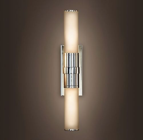 Delightful Restoration Hardware Cade Double Sconce Bathroom Light (Pair)