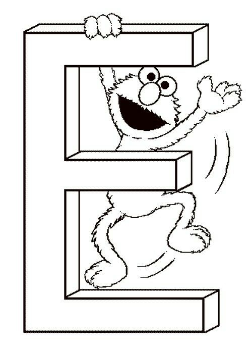 Pin By Rebecca Moses On Ern S Big One Sesame Street Coloring Pages Sesame Street Elmo Birthday