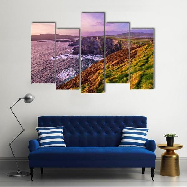 The Kerry Cliffs In Ireland Wallart Kerrycliffs Ireland Walldecor Homedecor Wallhanging Canvaspri Canvas Wall Art Multi Panel Canvas Wall Art Designs